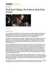 Hard Rock Calling – The Police in Hyde Park, London