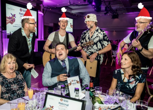 christmas party with the Rockaoke Mariachi band
